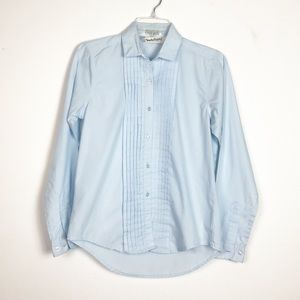 Diane von Furstenberg Tuxedo Button Down Shirt